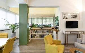 עיצוב פרקט בחדר פרויקט הדירה