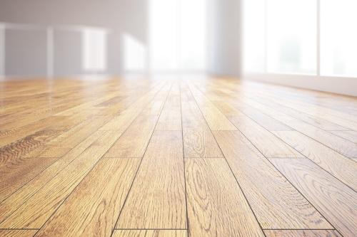 פרקט עץ טבעי באולם